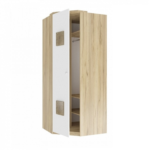 Шкаф угловой «Фиджи» с декоративной накладкой