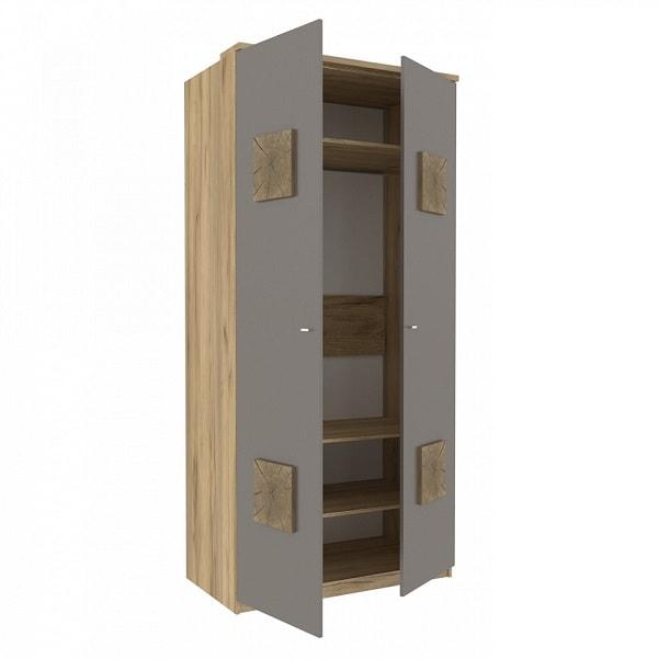Шкаф двухстворчатый «Фиджи» с декоративными накладками