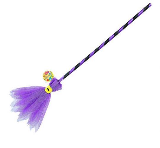 Метла бутафорская фиолетовая