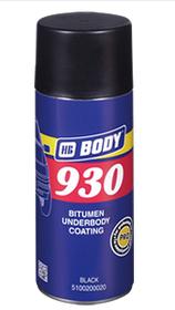 HB Body Аэрозольный антикорозийный состав 930 BITUMEN, черный, объем 400мл.
