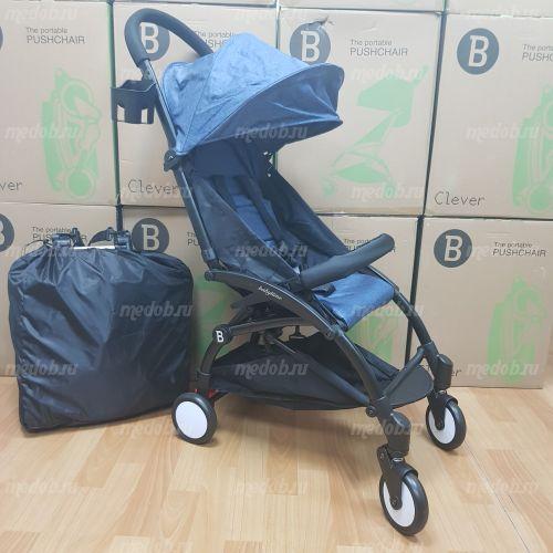 """Детская прогулочная коляска трансформер Yoya Babytime Синий Джинс """"Йойа беби тайм"""""""