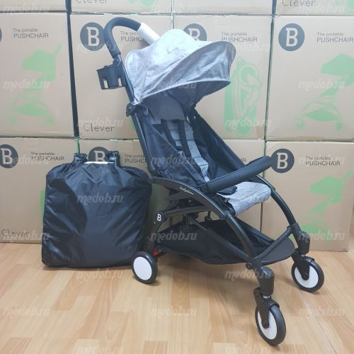 """Детская прогулочная коляска трансформер Yoya Babytime Серая """"Йойа беби тайм"""""""