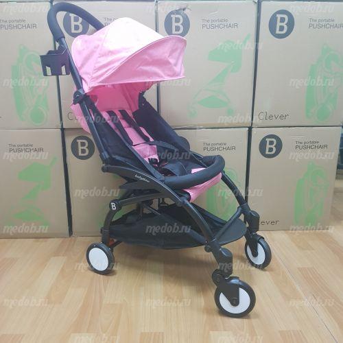 """Детская прогулочная коляска трансформер Yoya Babytime Розовая """"Йойа беби тайм"""""""