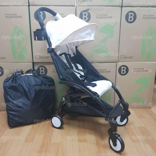 """Детская прогулочная коляска трансформер Yoya Babytime Белая """"Йойа беби тайм"""""""
