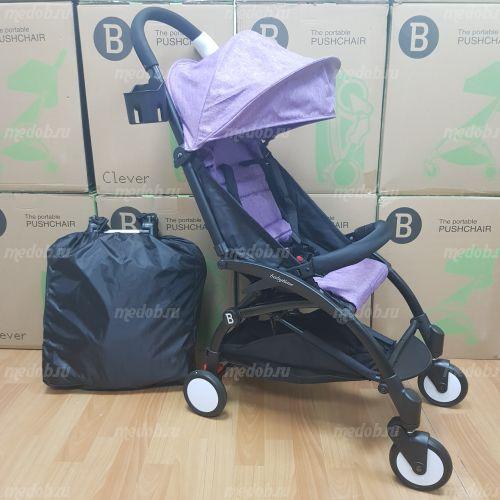 """Детская прогулочная коляска трансформер Yoya Babytime Фиолетовый """"Йойа беби тайм"""""""