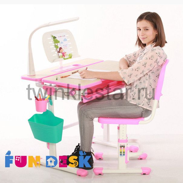 Парта для школьника для дома и стульчик FunDesk Lavoro