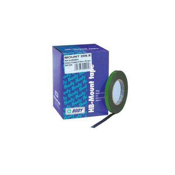 HB Body Двусторонний скотч, зеленый, 5мм. х 10м., (упаковка 34 шт.)