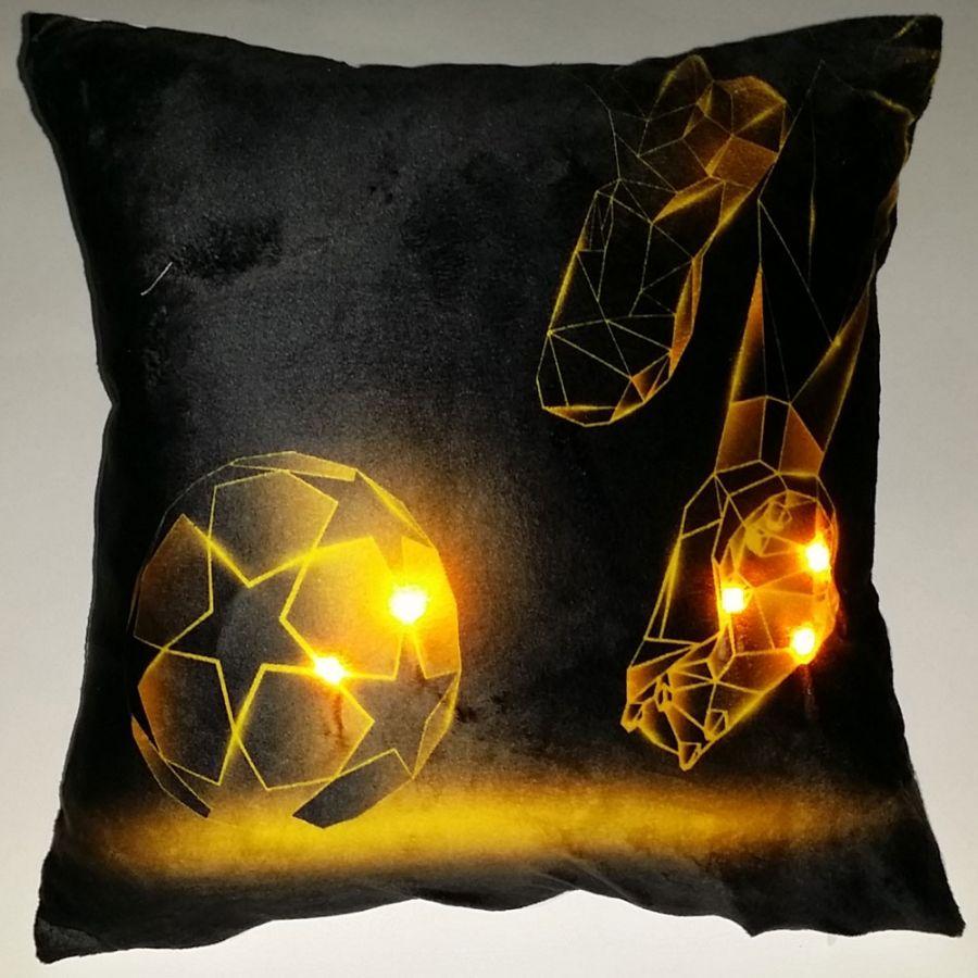 """Подушка """"Футбол-10"""", со светодиодами"""