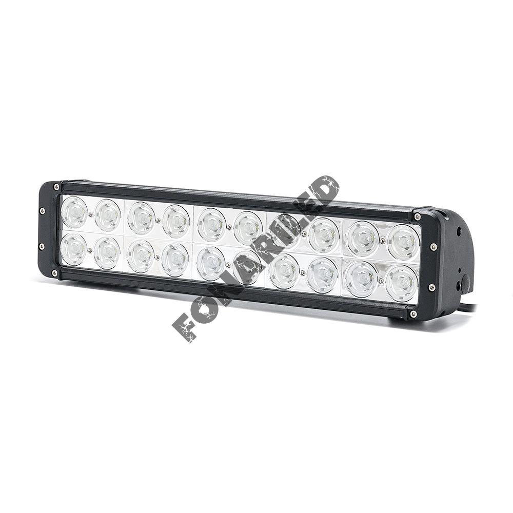Двухрядная светодиодная балка DCQ-200W spot дальний свет (длина 44 см, 17 дюймов)