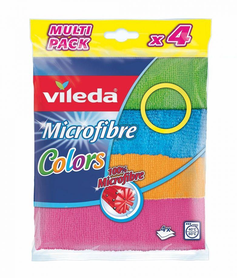 Vileda Colors салфетка универсальная из микрофибры 4шт
