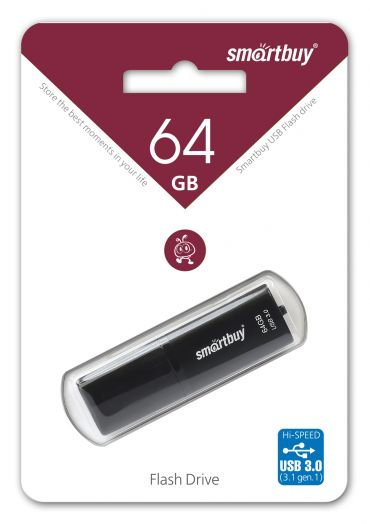 USB накопитель 3.0 Smartbuy 64GB X-Cut Black