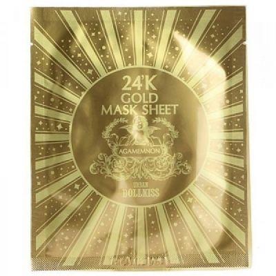 Baviphat Маска для лица омолаживающая с 24к золотом Urban Dollkiss Agamemnon 24K Gold Mask Sheet 30гр
