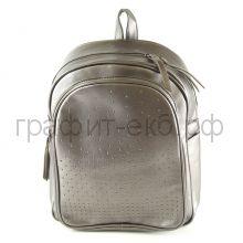 Рюкзак Феникс+ серый с заклепками искусств.кожа 46066