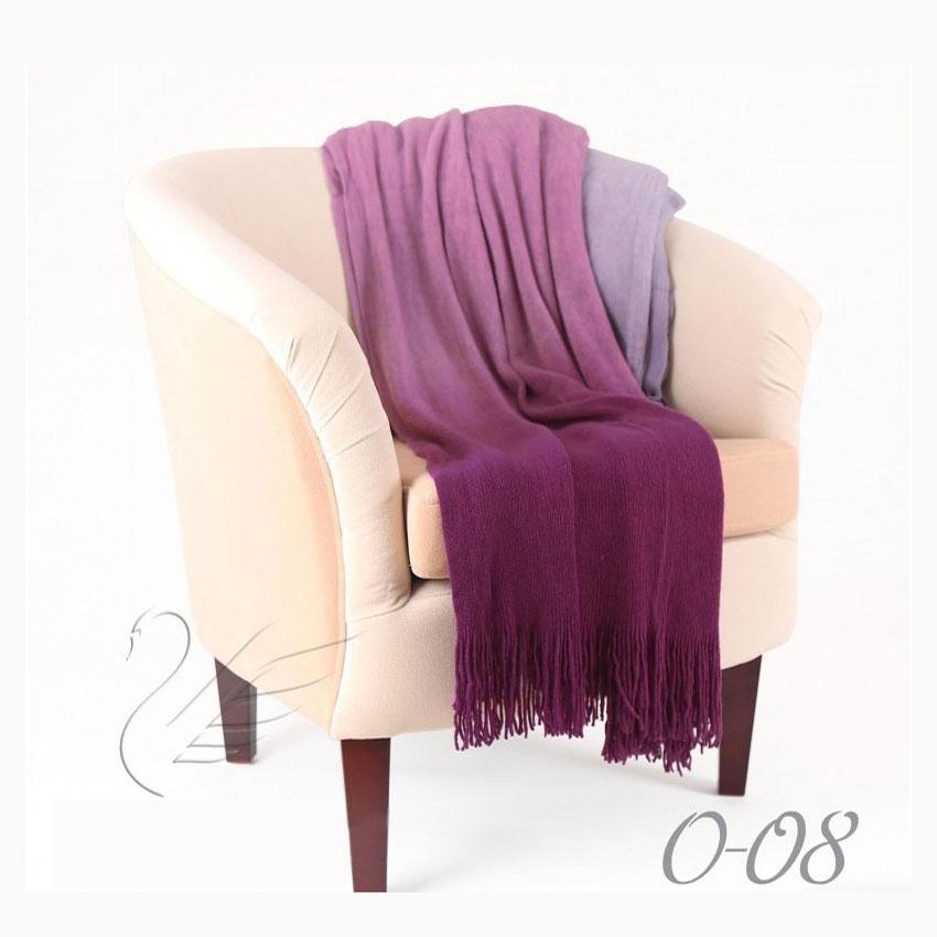 Плед Gentle 08 фиолетовый, акрил