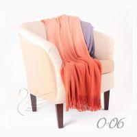 Плед Gentle 06 оранжевый, акрил