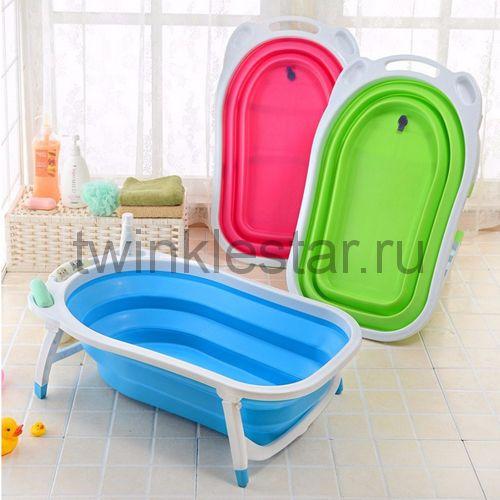 Детская складная ванна Folding Baby Bathtub розовый