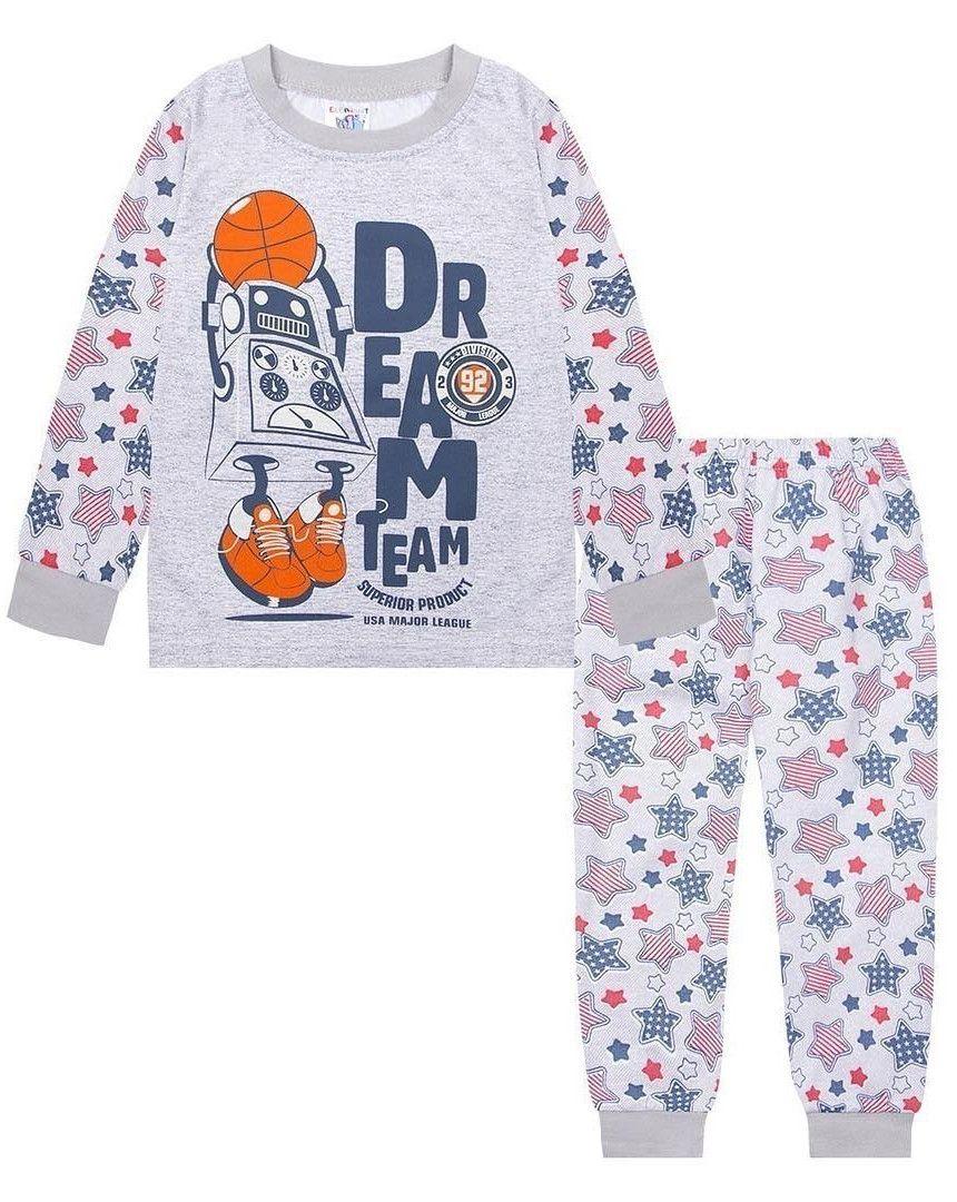 Хлопковая пижама для мальчика Спорт