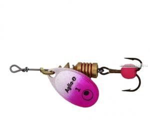 "Блесна вращающаяся Mepps ""Aglia E"" №1  /3,5 гр / цвет:  Pink Bright"