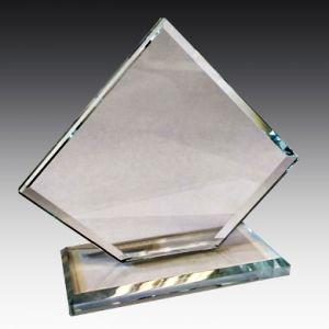 Награда из стекла  с вашей гравировкой (15 см)