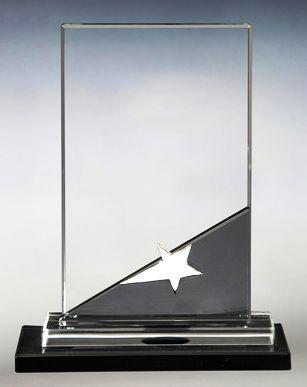 Награда из стекла  (17 см, нанесение  включено в стоимость)