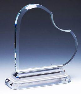 Сердечко из стекла (14см, нанесение включено в стоимость)