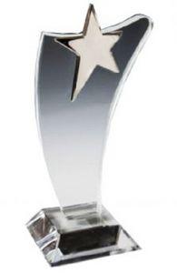 Стелла Звезда секлянная (19 см, нанесение включено в стоимость)