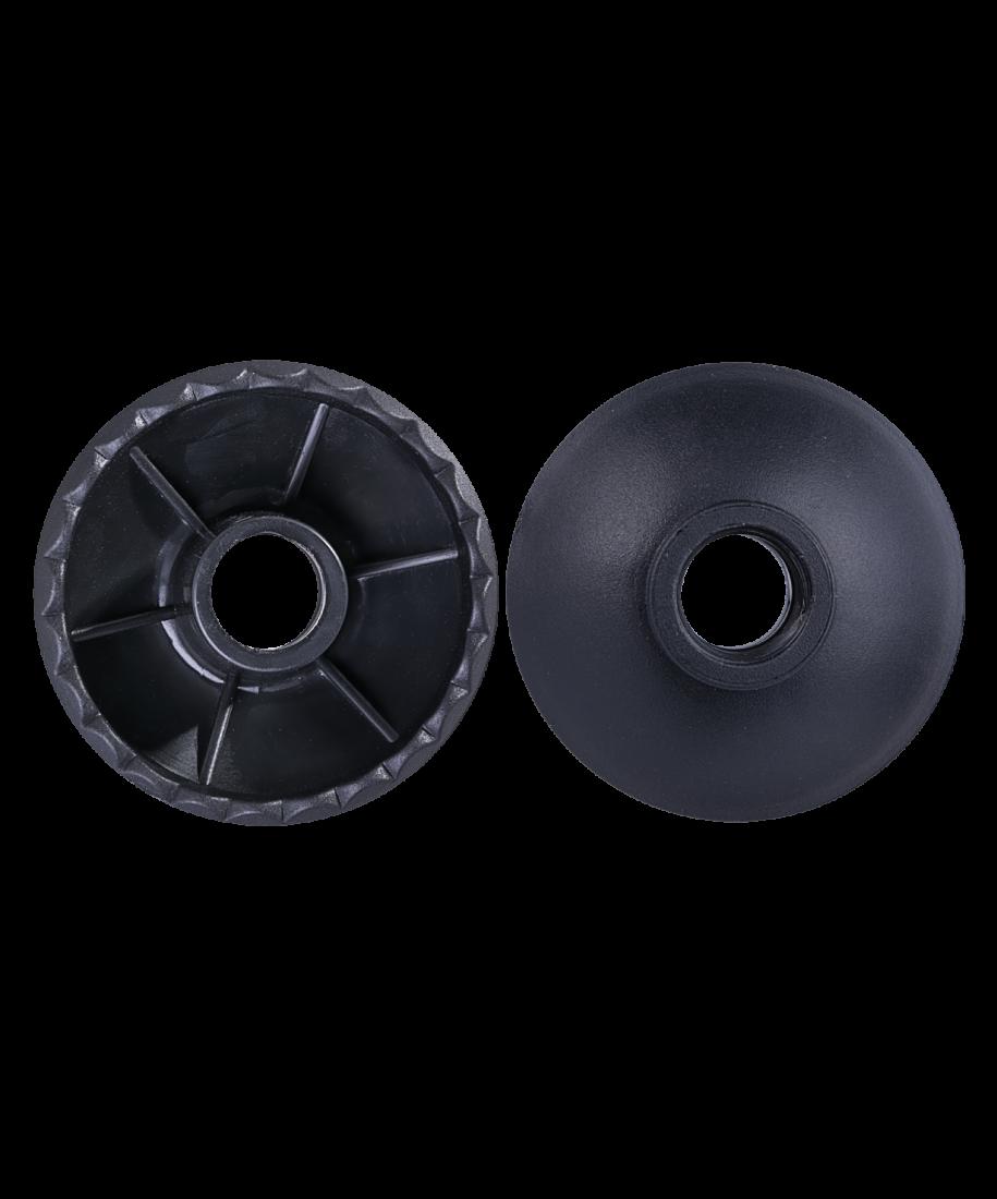 Комплект колец ограничительных для скандинавских палок, 2 шт., чёрный