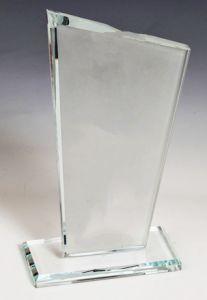 Награда из стекла  (23 см, нанесение  включено в стоимость)