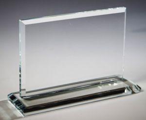Прямоугольник  из стекла  (11см, нанесение  включено в стоимость)