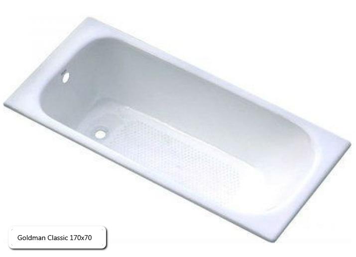 Ванна чугунная Goldman Classic 170х70