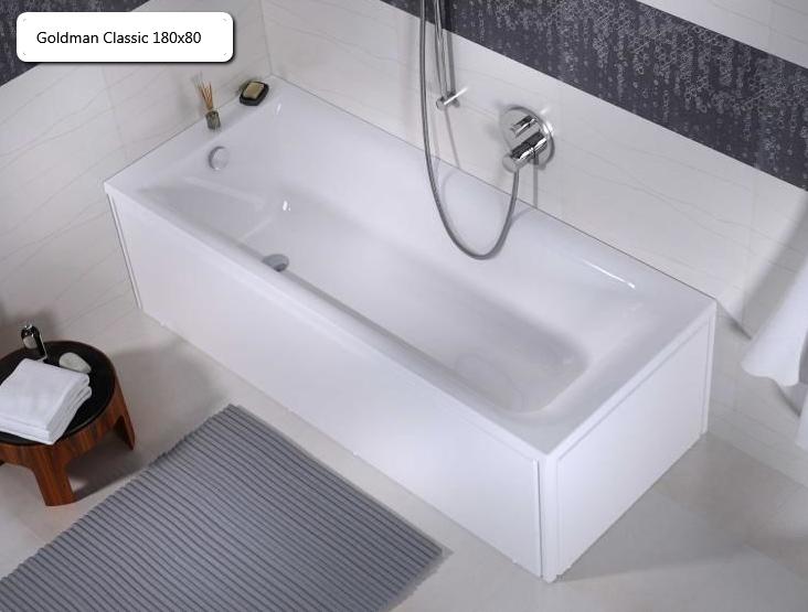 Ванна чугунная Goldman Classic 180х80