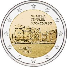 Храм Мнайдра 2 евро Мальта 2018