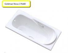 Ванна чугунная Goldman Nova 170х80 с ручками