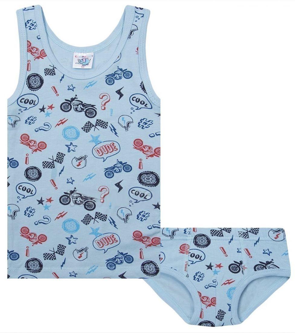Комплект нижнего белья для мальчика голубого цвета