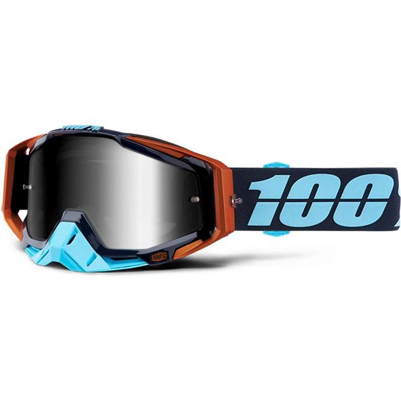 100% - Racecraft Ergono Mirror Silver Lens, очки, зеркальная линза