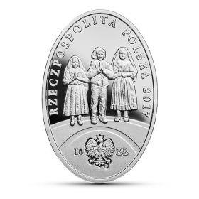 100 лет явлению Фатимы 10 злотых Польша 2017