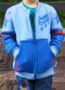 голубая толстовка для мальчика