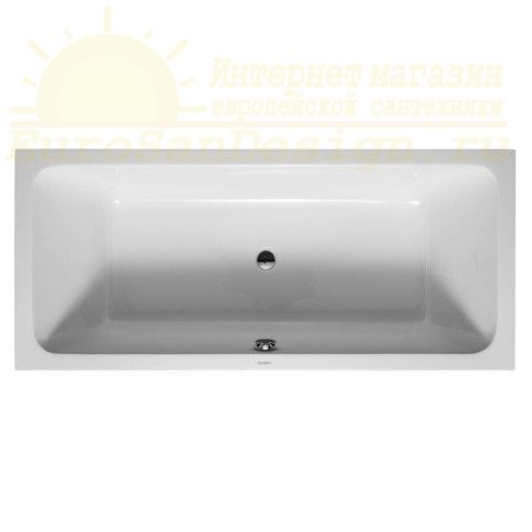 Акриловая ванна со сливом по центру Duravit D-Code 180x80 700101 ФОТО