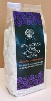 Крымская розовая соль Чёрного моря ПИЩЕВАЯ, с ЛАМИНАРИЕЙ  350 гр
