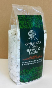 Крымская розовая соль Чёрного моря ПИЩЕВАЯ, с ПРОВАНСКИМИ ТРАВАМИ 350 гр