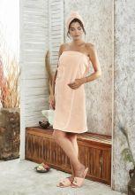 Набор для сауны женский PARIS (абрикосовый) Арт.325-7