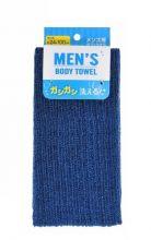 Мочалка для мужчин LEC особо жесткая, черная, 24х100 см