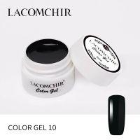 LACOMCHIR Гель-краска, черный №10