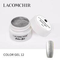 LACOMCHIR Гель-краска, серебро №12