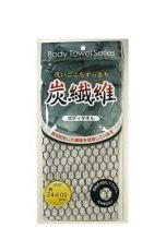 Мягкая мочалка для тела LEC с угольной нитью, 24х100 см
