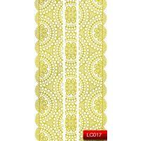 Nail Art Stickers Стикеры для дизайна ногтей LC017, золото
