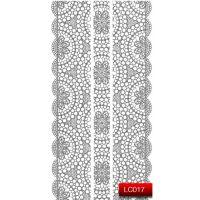 Nail Art Stickers Стикеры для дизайна ногтей LC017, серебро