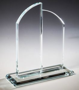 Награда из стекла  (17см, нанесение  включено в стоимость)