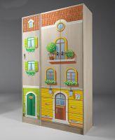 Шкаф 2-дверный ВГ-13/3 + пенал ВГ-13/10 Волшебный Город (114х52х200)