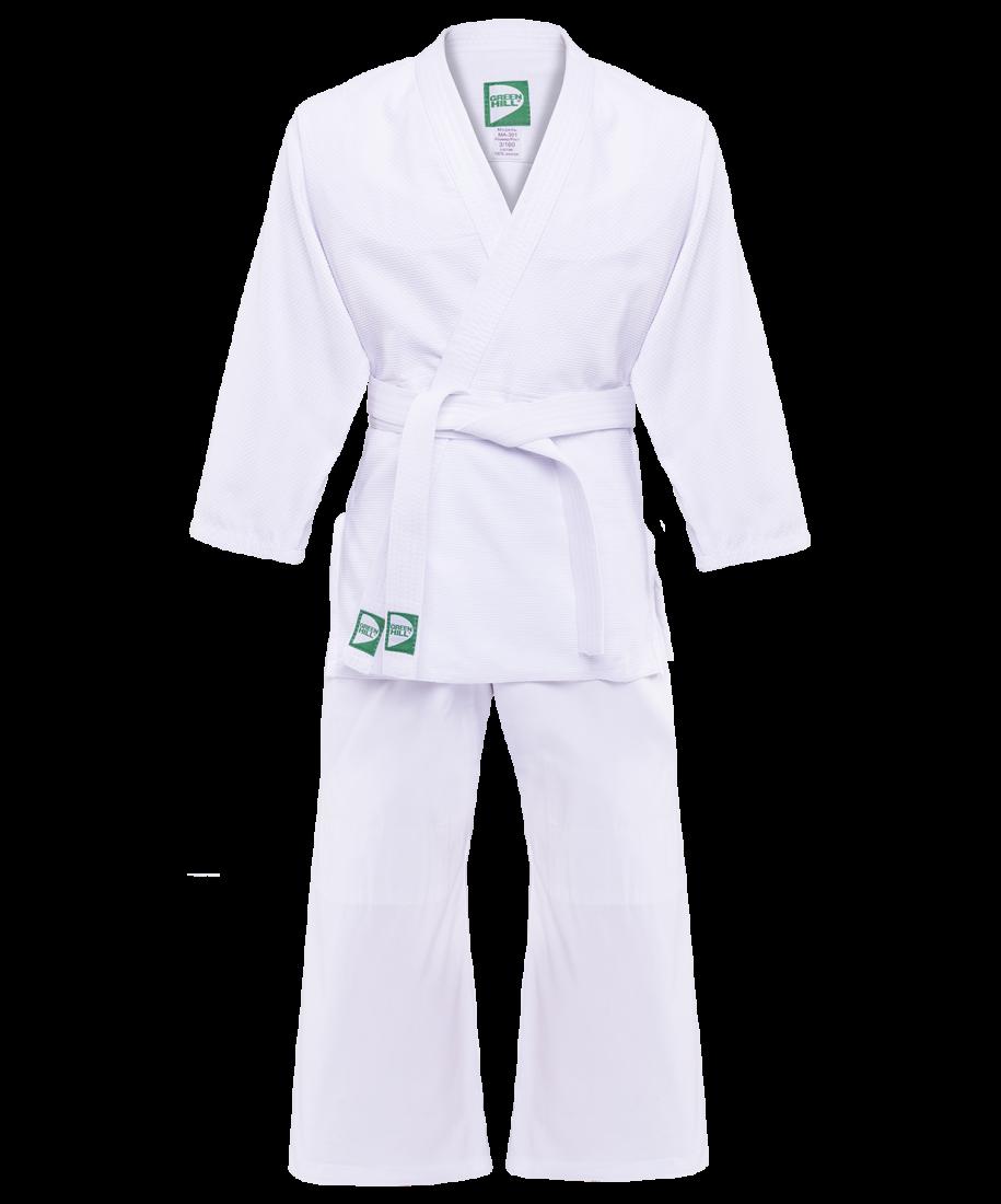 Кимоно дзюдо MA-301 белое Green Hill